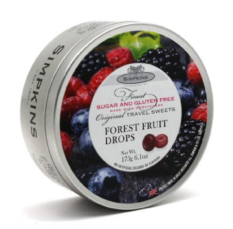 Forest Fruit Sugar & Gluten Free - Simpkins Traditional Travel Sweets Tin 175g